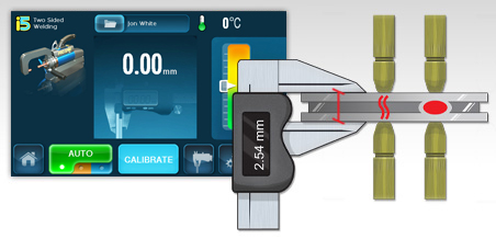 auto-weld iconography with touch screen interface